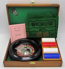Vintage Royal Brand Crisloid Roulette Travel Game In Wood Case -Complete & Works