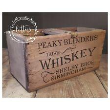 A5 STENCIL PEAKY BLINDERS  - WHISKEY Furniture Wine Crates Vintage ❤ 190 MYLAR