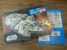 MB PUZZ 3D STAR WARS MILLENIUM FALCON 857 PIECES. COMPLETE.