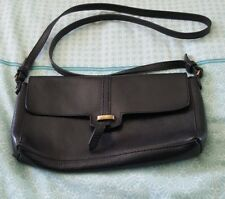 ZARA Black Crossbody Boho Leather Bag Handbag