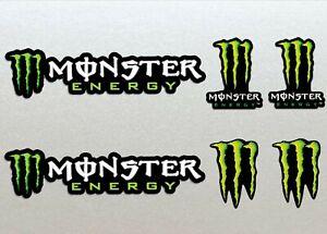 Monster Energy Racing Sticker Set X 6 Bike, Car, Yamaha, Kawaskai, KTM, Moto
