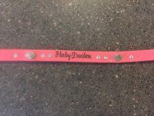 Harley Davidson Leather Pet-Dog 4' pink Leash.