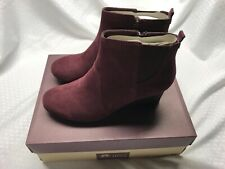 Clarks Suede or Leather Wedge Boots - Crystal Quartz A256544 11W Wine