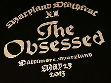 The Obsessed VERY RARE! MD Death Festival XII May 25 2013 Extra Large Shirt OOP