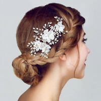 7 x 3cm All AAAA CZ Flower Wedding Bridal Head Pieces Hair Clip Accessories