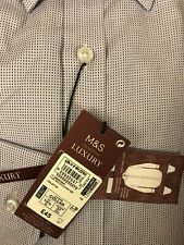 Marks & Spencers mans shirt luxury regular 14.5 lilac mix BNWTS