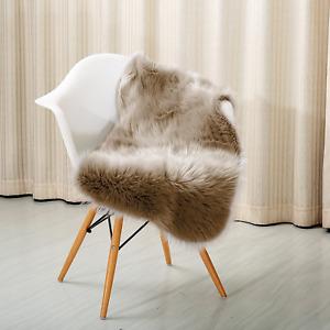 """Reafort High Pile Super Soft Faux Sheepskin Rug, Chair Cover, Sofa Cover 20""""x36"""""""