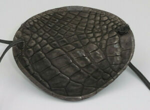 World's Best Eye Patch  ADULT Alligator Leather Black, Replaceable Elastic