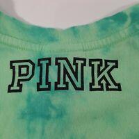 "Victorias Secret Pink Tie Dye Tank Top Size Medium ""I Pinch Back"" Irish Green"