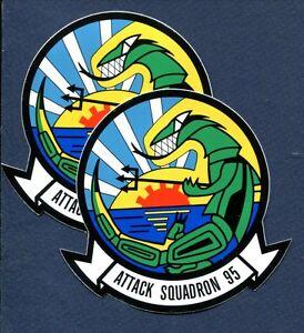 Sticker Set VA-95 GREEN LIZARDS NAVY Grumman A-6 Intruder Squadron Patch Image