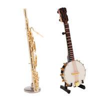 2x 1:6 Soldier Metal Banjo Bassoon Model Set for 12'' Kumik Figure Scenario