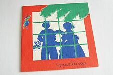 Vintage Christmas Greeting Card - 40's Silhouettes In Window