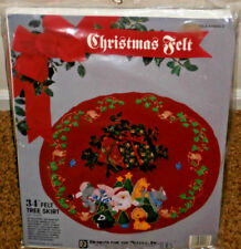Designs For The Needle Christmas Felt~Jungle Animals~Christmas Tree Skirt~MIP