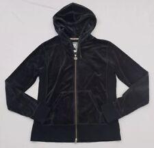 5eb5d7779c04 Nike Sportswear Women s Large Black Velour Full Zip Hooded Jacket
