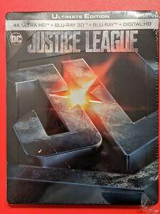 Justice League - Edition limitée Steelbook - 4K Ultra HD + Blu-Ray 3D + 2D NEUF