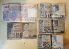 (#N0638) MADAGASCAR ; Lot de 5 BILLETS; 3 x 50 FRANCS + 1 x 100 Frs et 5000 frs