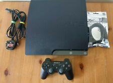 355 PlayStation 3 PS3 Slim 120GB OFW 3.55 Black Console CECH-2103A
