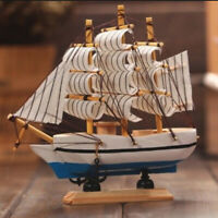 Wooden Sailing Boat Mediterranean Sailing Ship Model Craft Decoration For Home
