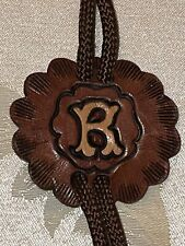"""Leather Bolo Tie Vintage """"R� Tooled"""