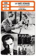 FICHE CINEMA : LA FORET PETRIFIEE - Howard,Davis,Mayo 1936 The Petrified Forest