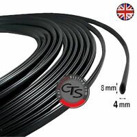 Car Door Edge Guard Trim Protector BLACK U Profile 2M Roll Moulding Trim Strip