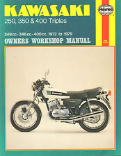 KAWASAKI 250, 350 & 400 TRIPLES  1972 TO 1979 - OWNERS WORKSHOP MANUAL