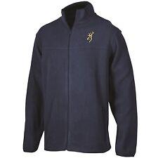 Browning Men's River Blue Fleece Jacket Coat, Buckmark Logo