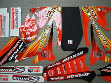 Honda CRF250 2010-13 CRF450 2009-12 Pro Circuit graphic kit + seat cover DH13250