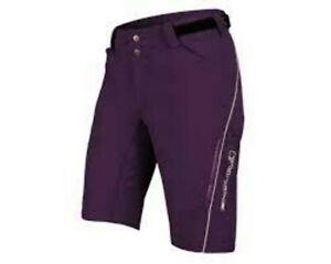 Pants Short Bike ENDURA Womens Singletrack Lite Shorts Purple Size XS