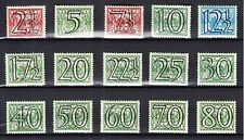 Nederland 356 - 373 Guilloche 1940 ongebruikt (ook wat postfris)