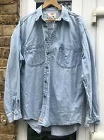 LEVI MEN'S VINTAGE LIGHT BLUE RED TAB LARGE DENIM SHIRT