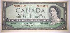 $1 Dollar Bill 1954 Modified Major Error Offset Signature Beattie Coyne M/L