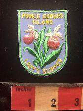 Prince Edward Island LADY'S SLIPPER Canada Patch ~ Flower S74P