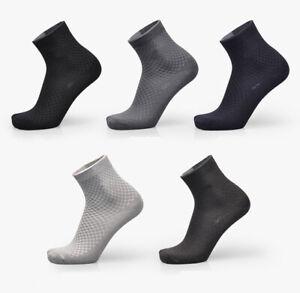 5 Pairs Men Bamboo Fiber Socks Business Anti-Bacterial Breatheable Dress Socks