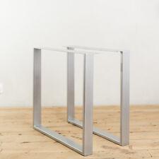 2 x HEAVY DUTY STEEL TABLE LEGS / UNFINISHED / RETRO METAL INDUSTRIAL DESIGN