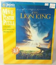 Vintage THE LION KING Puzzle Disney 300 Piece Movie Poster Sky Clouds Sun Face