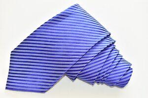 "DONALD J TRUMP STRIPED/BLUE SILK Neck Tie W:4"" by L:61"""