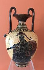 """Ancient Greek  Greece Vase with Hector W Sword & Shield  Museum Replica  9"""" Tall"""
