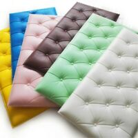 Self-adhesive 3D Wall Stickers Thicken Anti-collision Wall Mat Soft Cushion US