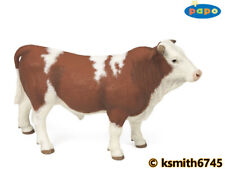 Papo LIMOUSIN COW /& CALF solid plastic toy farm pet brown animal NEW