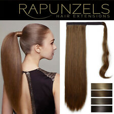 "18"" Clip on Pony Tail wrap aound long thick real Remy 7A grade quality hair"