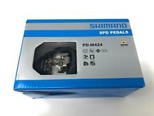 "Shimano SPD PD-M424 MTB Bike Off-Road Clipless Pedals 9/16"" SM-SH51 New In Box"