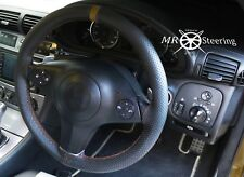 Para Mazda MPV 1999-2006 cubierta del volante cuero perforado con correa marrón