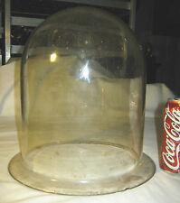 ANTIQUE INDUSTRIAL LAB DOME BELL GLASS CLOCHE DOLL CLOCK TERRARIUM PLANT COVER