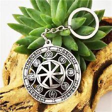 Schlüsselanhänger Schwarze Sonne mit Runen  Mjolnir Odin Thor Slawen  (Key5)