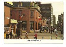 RUE PRINCE ARTHUR ST., MONTREAL, QUEBEC, CANADA CHROME POSTCARD