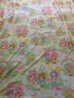 Vintage STRAWBERRY SHORTCAKE SHEETS 1980's Twin Size Flat Sheet Only