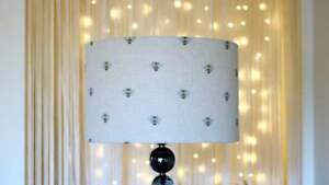 Bee Print Lampshade - Drum Lamp shade 25cm 30cm 40cm Bees Worker Bee Manchester