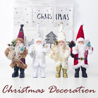 Christmas Xmas Mini Santa Claus Doll Cloth Standing Indoor Home