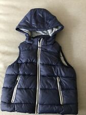 Seed Heritage Boys Navy Hooded Sleeveless Puffer Vest Size 4